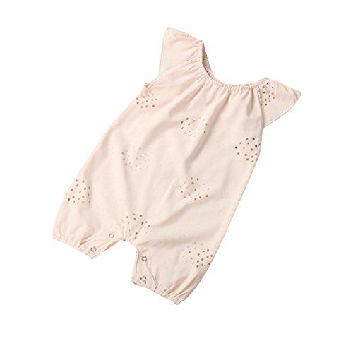 Baby Jumpsuit Xinan Jungen Mädchen Strampler Overall Body Outfits Kleidung (80, Rosa)
