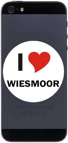 I Love Aufkleber 7 cm mit Stadtname WIESMOOR - Decal - Sticker - Handy - Handyskin - Handyaufkleber - Telefonaufkleber / JDM / Die cut / OEM