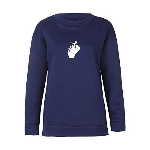 Bluse Damen Pullover Frauen Shirt Herbst Mode Langarmshirt Gedruckt Sweatshirt Lange Ärmel Blusen Tops T Shirt Oberteile Bluseshirt,ABsoar