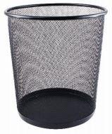 Papierkorb Metall 13 Liter - 22X26.5XH.28 cm in 6 verschiedenen Farben (Schwarz)