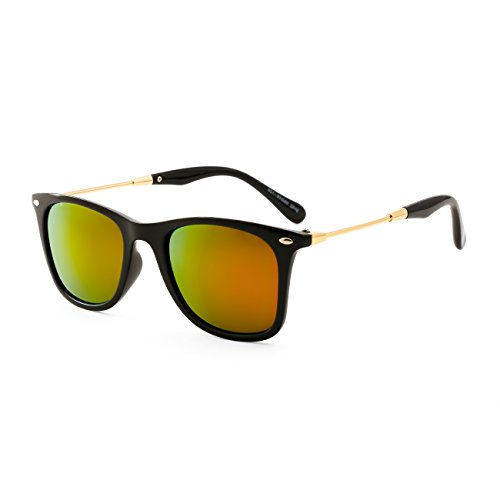 Royal Son UV Protected Wayfarer Sunglasses For Men and Women (WHAT4350 | 55 | Red Mirrored Lens)