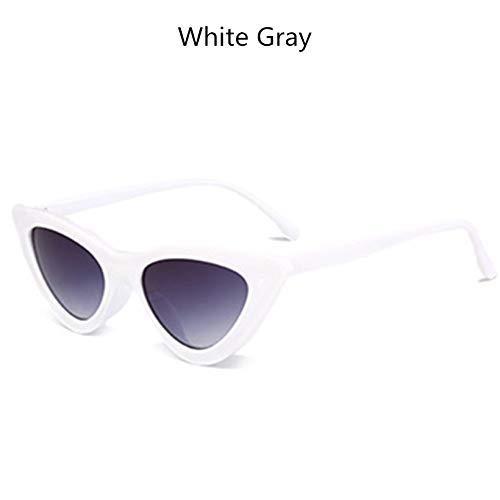 ZHAS High-End-Brille Vintage Sonnenbrille Damen Kleine Sonnenbrille Damen Sonnenbrille Schwarz Eyewear Uv400 Personalisierte High-End-Sonnenbrille WhiteGray