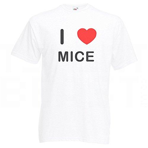 I Love Mice - T-Shirt Weiß