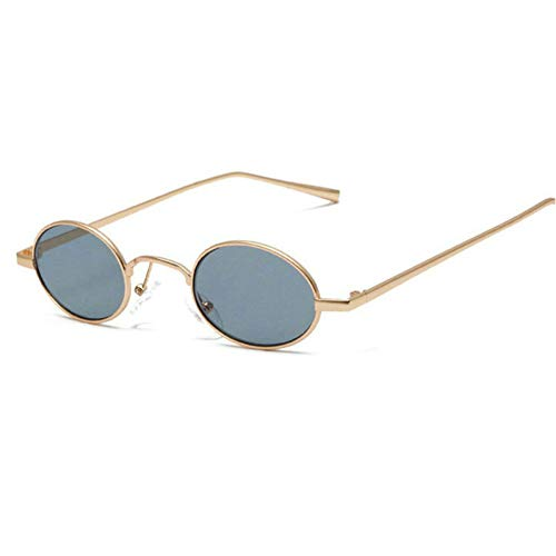 GBST New Retro Flat Mirror Fashion Trendy Glasses Man Can Be Equipped with Myopic Metal Frame,Gold Gray
