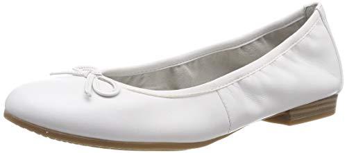 Tamaris Damen 1-1-22116-22 100 Geschlossene Ballerinas,Weiß (White 100), 38 EU