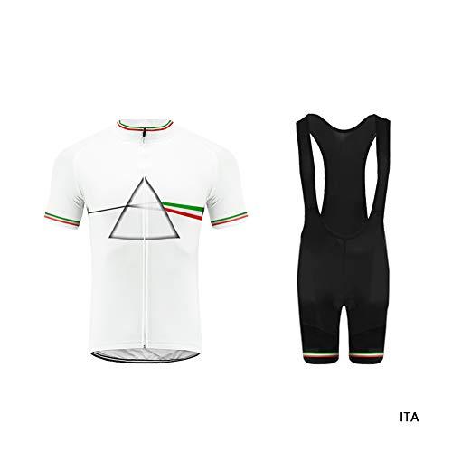 Uglyfrog Abbigliamento Ciclismo Set, Nuova Collezione Estivo Abbigliamento Sportivo per Bicicletta Maglia Manica Corta + Pantaloni Corti per Uomo DTMX03