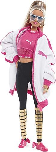 Barbie- Signature 50 Anniversario Bambola da Collezione con Sneakers Suede Rosa e Total Look Puma, DWF59