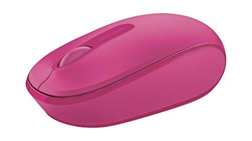Microsoft Wireless Mobile Mouse 1850 (Maus, pink, kabellos, für Rechts- und Linkshänder geeignet)