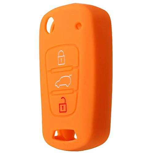 JenNiFer Silikon 3 Button Remote Key Case Cover Für Hyundai Elantra Accent I20 Ix35 - Orange