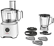 Moulinex Food Processor Easy Force 800W 2.4 Liter, FP247127, White, 1 Year Manufacturer Warranty