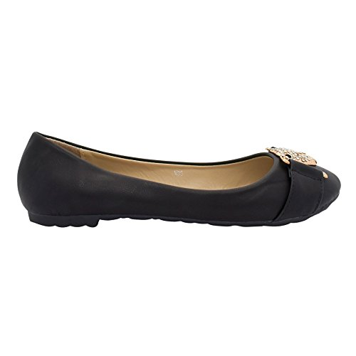 Footwear London donna Black London Ballet Footwear qTfwf0E
