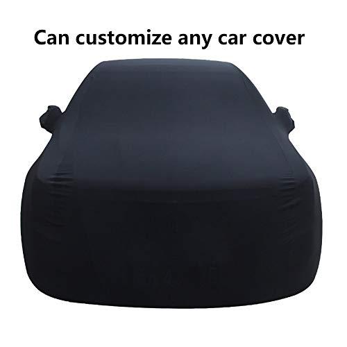 CAR COVER Indoor Stretch, Kompatibel mit FIAT 124 Spider Kratzfest, staubdicht und frostsicher (Color : Black) (Stretch-tülle)