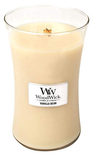 Wood Wick by Pajoma 62823 vela perfumada Vanilla Bean hour glass, duración de la combustión aproximadamente 180 horas, 623 G