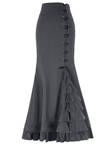 meerjungfrau rock damen einstellbar gothic skirt Fishtail Rock lang bodycon rock L BP203-2