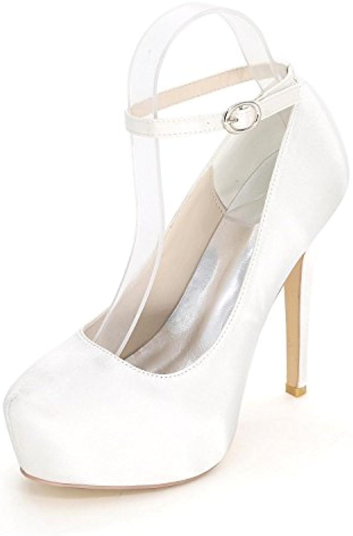 Elegant high shoes Chenxia Sandalias De Mujer/Tacones Altos/Verano/Otoño De Boda De Satén/Partido Y La Noche Código... -