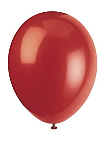 Unique Party- Globos de Fiesta de Látex, 50 Unidades, Color ((Cherry Red), Pack of 50 (56852)