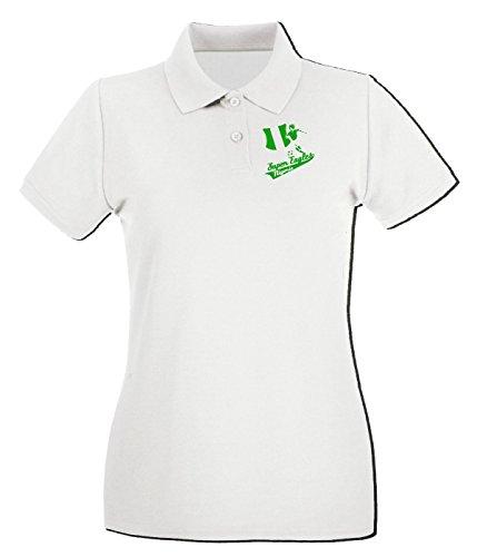 T-Shirtshock - Polo pour femme WC0131 NIGERIA Blanc