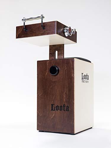 Loota Percussion aus Finnland. Einzigartiges Birkenholz Box-Drumset im Cajòn-Style für akustische Musik. Bass-Box, Snare & Crasher. Designed in Finnland. (Kakaobohne)