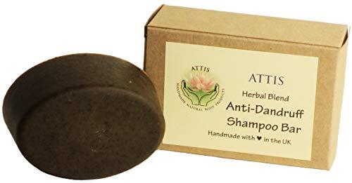ATTIS handgefertigt Anti-Schuppen Kräutermischung Shampoo Bar | mit Ginger Root | reetha | Shikakai | Patchouli & Eukalyptus Ätherische Öle | Amla |-Sulfat frei | für Frauen & Männer