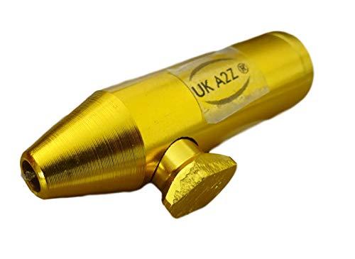 Gold aluminum Snuff dispenser Snorter Snuff Bullet Rocket