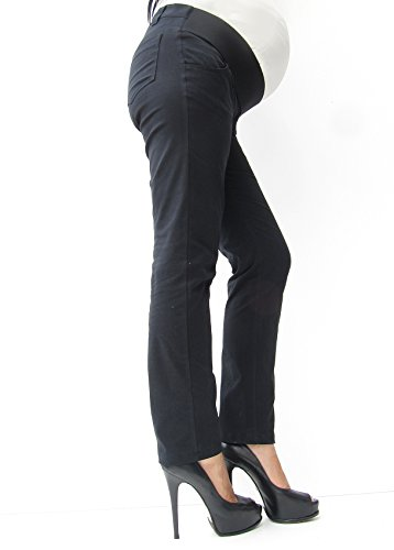 Mia maternity - Pantalon spécial grossesse - Femme noir BLACK plain 34,36,38,40,42,44,46,48,50 Noir