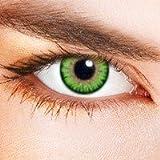 lentillas de color / color lenses verde-. sin corrección