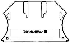 WEIDMULLER - TAPA FINAL WAP WDL 2 5/S/S/NT/L/PE