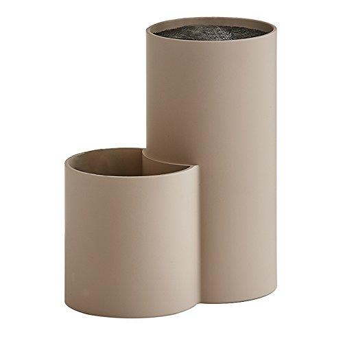 Zeller 24908 Messerblock-/Utensilienhalter, Kunststoff, taupe 19 x 11 x 22,5 cm