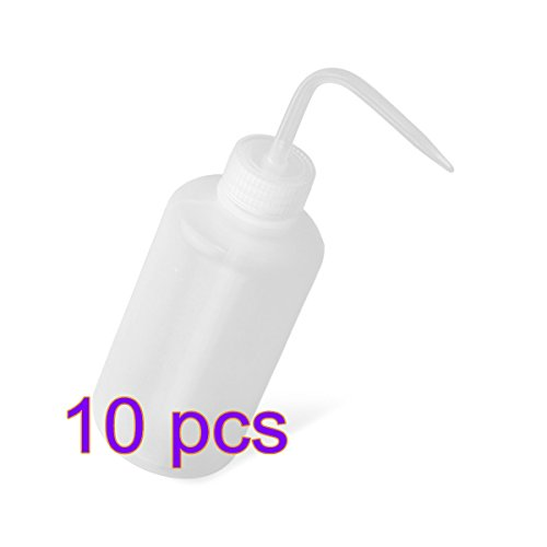 Kanggest. 10pcs 250ml Capacidad Botella Clara Lavado