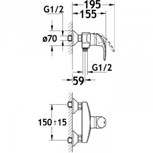GROHE - MITIGEUR DOUCHE EUROSMART GROHE 32172001 - SID-627017