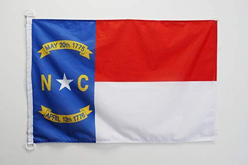 AZ FLAG BOOTFLAGGE North Carolina 45x30cm - Bundesstaat North Carolina BOOTSFAHNE 30 x 45 cm Marine flaggen Top Qualität