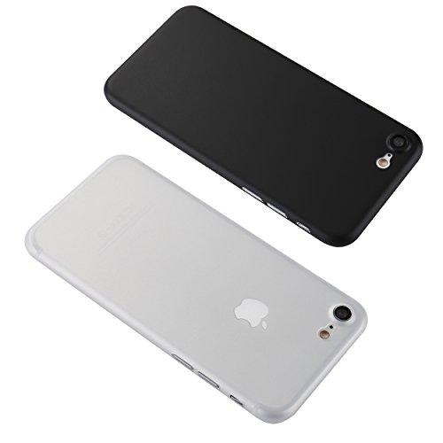 iPhone 7 / 8 Hülle (4,7 Zoll) ultra dünne Schutzhülle mit Kameraschutz, Liamoo® federleichte [0,35 mm] Case / Bumper / Cover - Schutz vor Staub / Kratzer / Stößen in matt Schwarz weiß