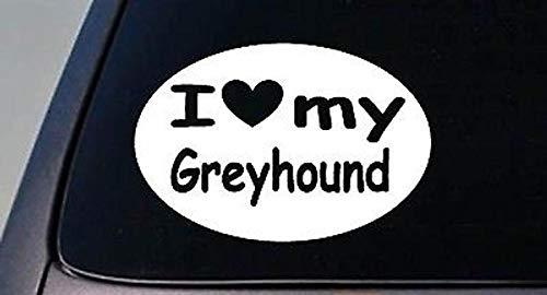 Cellycasy I Love My Greyhound Dogracing Rescue Aufkleber Hund Truck Fenster Aufkleber -
