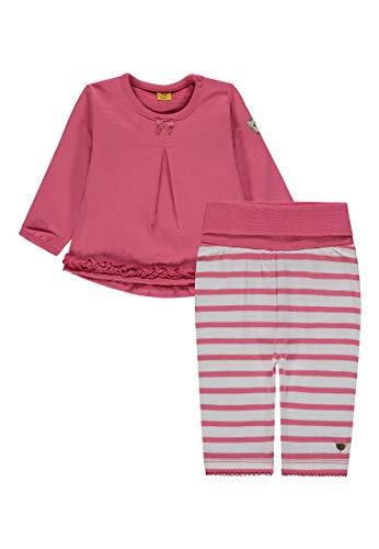 Steiff Baby - Mädchen 2tlg. Set Sweatshirt 1/1 Arm + Leggings Bekleidungsset, per Pack Pink (Fruit Dove|pink 2203), 86 (Herstellergröße: 86)