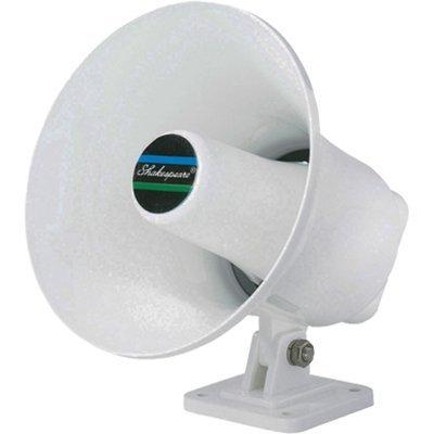 Shakespeare Megafon mit Befestigung und Kabel HS-5, Weiß Hailer Horn