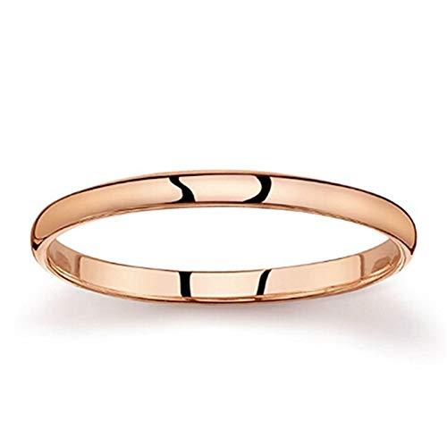 (L_shop Gold Halo Paare Ringe Hochzeit Verlobungsringe Herrenringe Little Fingers Damen Fine Edition Ringe, Kupfer, Roségold1)