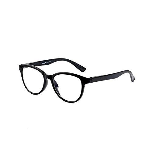 Photochrome Lesebrille Optische Presbyopie Gläser Sonnenbrille Zweifarbige Intelligente Farbwechselbrille Anti-UV(Schwarz,+3.0)