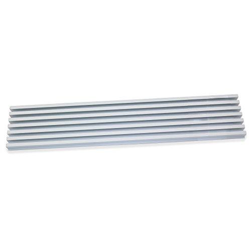 Emuca 8934862 Rejilla de Ventilación para Frigorífico/Horno, Aluminio anodizado mate