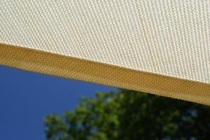 Kookaburra 4,0m x 3,0m Rechteck Elfenbein Atmungsaktives Sonnensegel (Strickgewebe) -