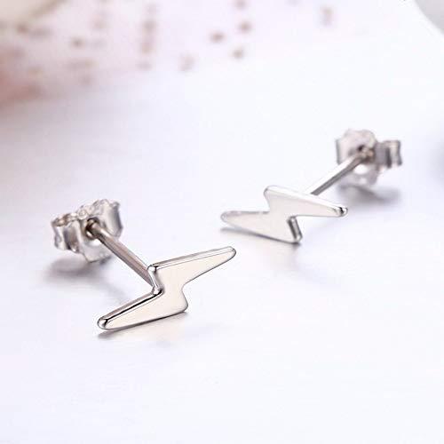 ZHWM Ohrringe Ohrstecker Ohrhänger 925 Sterling Silber Blitz Für Frauen Mädchen Kleinkind Mädchen Kinder Schmuck Frauen Baumeln 1 para