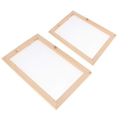 sharprepublic 2pcs Traditionelle hölzerne Papierherstellung Schimmel Frame Screen Tool für handgefertigte DIY Papier