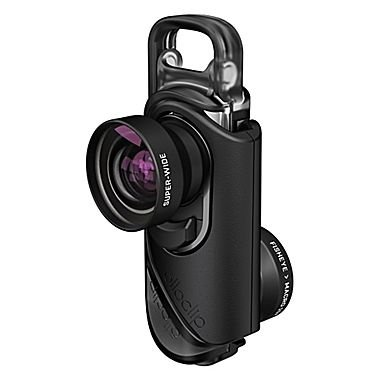 OLLOCLIP - Set Obbiettivi CORE Per iPhone 8/8 Plus & 7/7 Plus I Immagini, Video, Panoramiche In Alta Definizione I Professionale- Lente Nera/Clip Nera