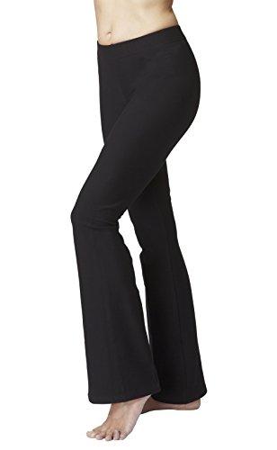 TLC Sport Taillierte Trainingshose mit ausgestelltem Bein-Schwarz-Medium (40) Regulär Bein -