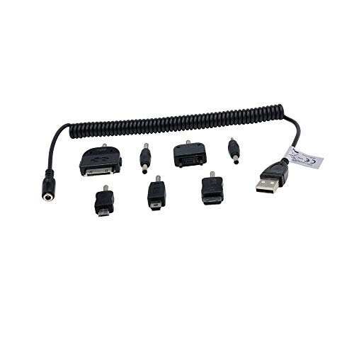 7520 Blackberry (P4A BlackBerry 7520 USB Ladekabel für Smartphone/Handy - Universal - 8-teilig,)