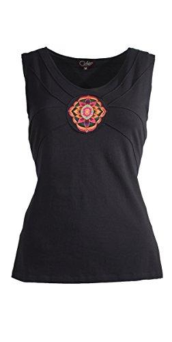 Coline - Tee shirt femme sans manche Noir