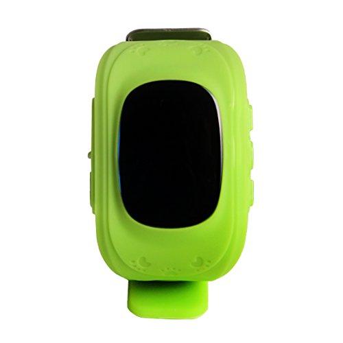 Andux Zone Ortung Smartwatch SOS Smartwatch Kinder Smartwatch GPS Watch Kid GPS Tracking Uhr GPS Telefon Android IOS, Vivid Green DWSB-01