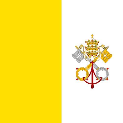 YWJHY Vatikan-Nationalflagge 144 * 96cm Nationaltag-Gedenktag,Gelb,Einheitsgröße