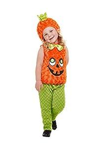 Smiffys 61131T1 - Disfraz de calabaza para niños, unisex, color naranja, edad de 1 a 2 años