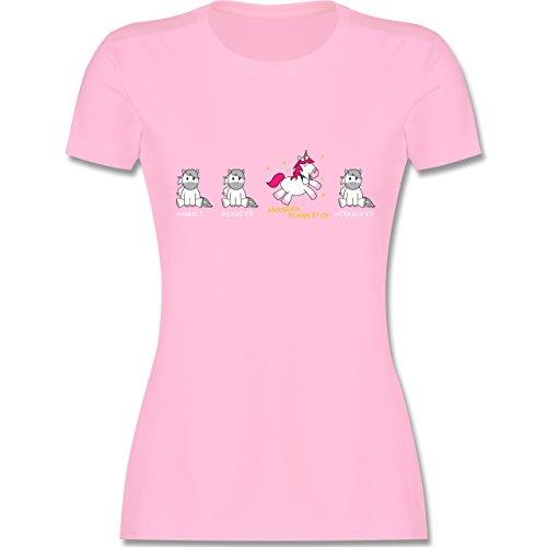 Krankenschwester Gelben T-shirt (Sonstige Berufe - Krankenschwester Einhorn - M - Rosa - L191 - Damen Tshirt und Frauen T-Shirt)