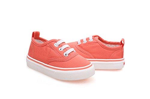 ALUK- Baby Schuhe - Kinder Leinwand Schuhe Lernen Lazy Schuhe Casual Schuhe ( Farbe : Grün , größe : 19 ) Water - red